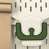Weiße COCCINELLE Handtasche AMBRINE PERFO  - small