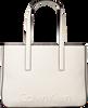 Weiße CALVIN KLEIN Shopper EDGE MEDIUM SHOPPER - small