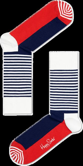 Weiße HAPPY SOCKS Socken HALF STRIPE - large