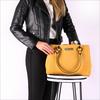 Goldfarbene GUESS Handtasche HERITAGE POP LRG GIRLFRIEND SA  - small
