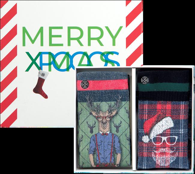 Mehrfarbige/Bunte XPOOOS Socken XMAS GIFTBOX 60171 & 60173  - large