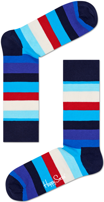 Blaue HAPPY SOCKS Socken STRIPE - large