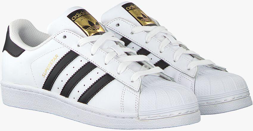 Weiße ADIDAS Sneaker SUPERSTAR J - larger