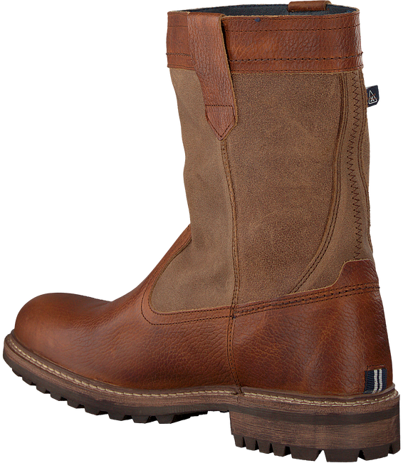 Cognacfarbene GAASTRA Ankle Boots CABIN HIGH FUR - large