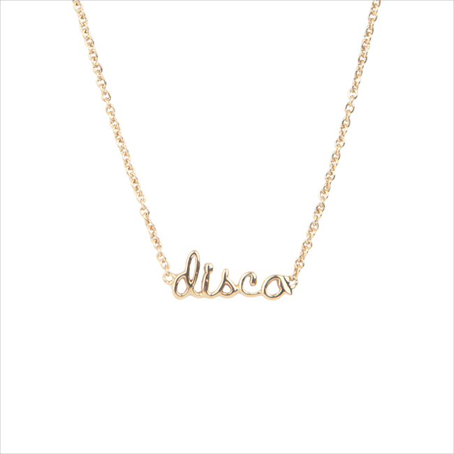 Goldfarbene ALLTHELUCKINTHEWORLD Kette URBAN NECKLACE DISCO - large