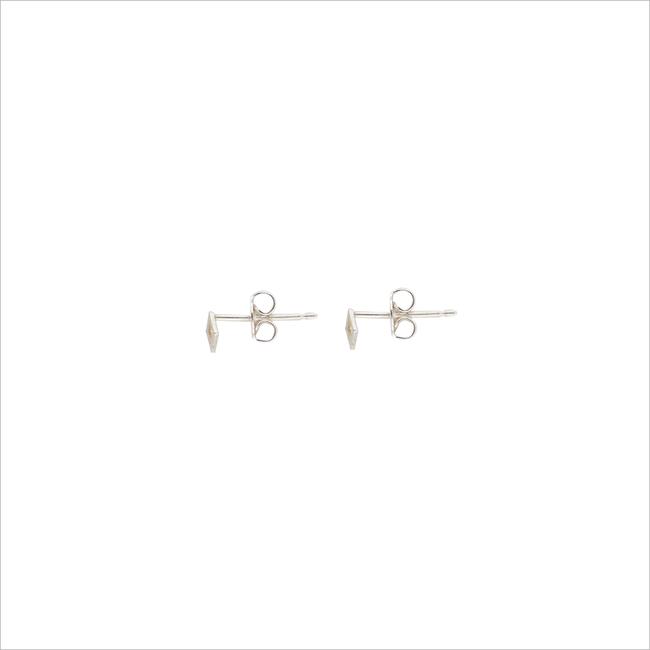 Silberne ALLTHELUCKINTHEWORLD Ohrringe PETITE EARRINGS SQUARE - large