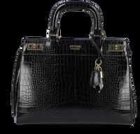 Schwarze GUESS Handtasche KATEY LUXURY SATCHEL  - medium