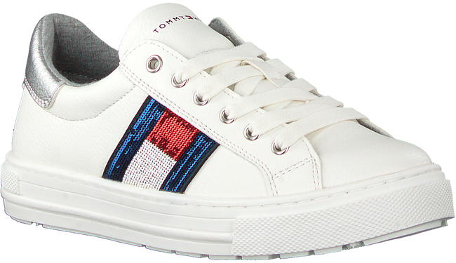 Weiße TOMMY HILFIGER Sneaker low LOW CUT LACE-UP SNEAKER  - large