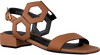 Cognacfarbene NOTRE-V Sandalen BZ0205X  - small