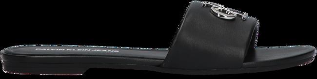 Schwarze CALVIN KLEIN Pantolette FLAT SANDAL SLIDE  - large