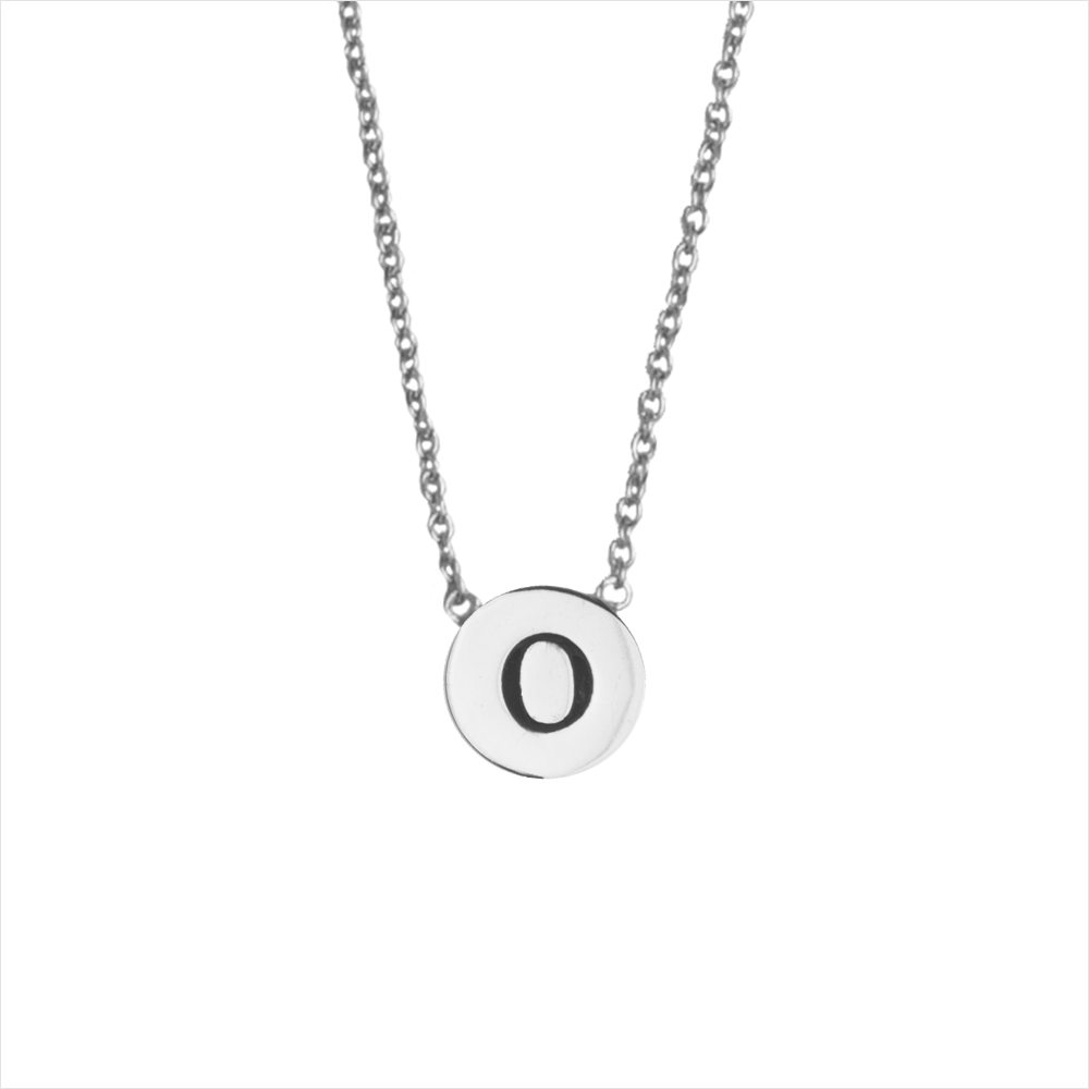 Silberne ALLTHELUCKINTHEWORLD Kette CHARACTER NECKLACE LETTER SILV OyXns