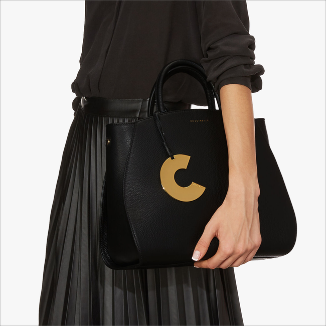 Schwarze COCCINELLE Handtasche CONCRETE 1801  - large