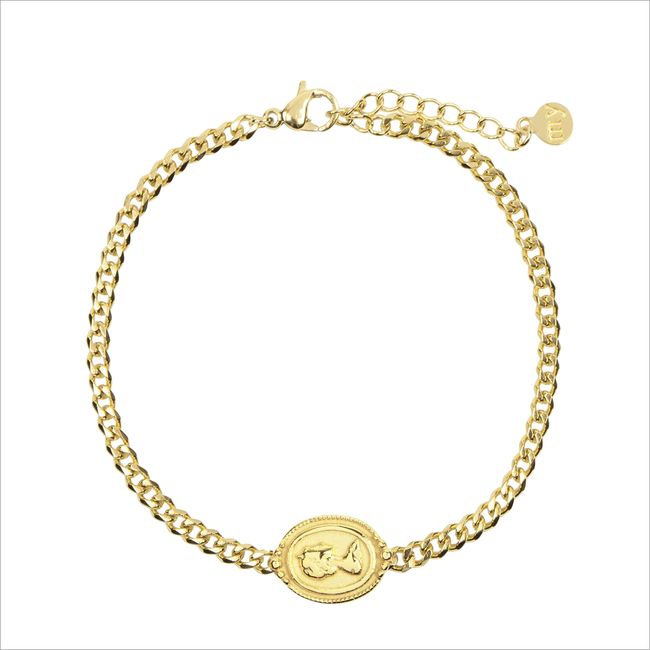 Goldfarbene MY JEWELLERY Armband ARMBAND BEDEL CAMEE  - large