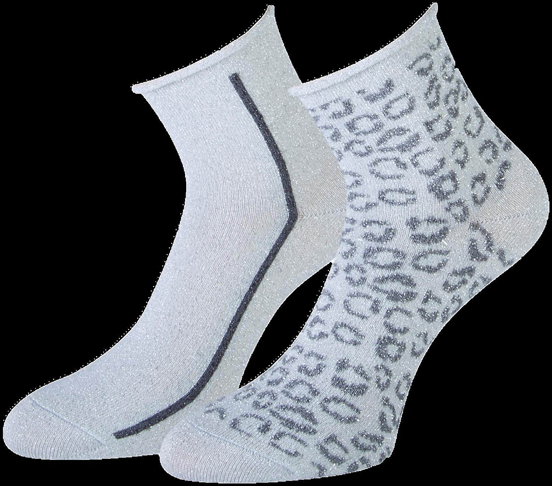 Graue MARCMARCS Socken AMY COTTON 2-PACK xIyKi