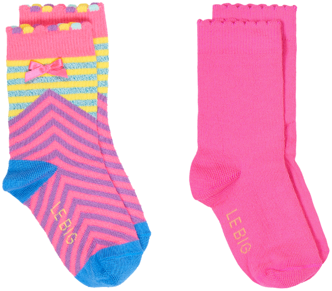 Mehrfarbige/Bunte LE BIG Socken NIENKE SOCK 2 PACK  - large