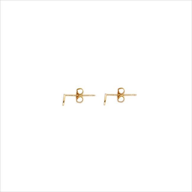 Goldfarbene ALLTHELUCKINTHEWORLD Ohrringe PETITE EARRINGS OVAL - large