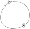 Graue ALLTHELUCKINTHEWORLD Armband CHARACTER BRACELET LETTER SILV - small