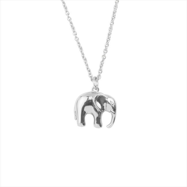 Silberne ALLTHELUCKINTHEWORLD Kette SOUVENIR NECKLACE ELEPHANT - large