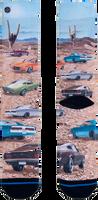 Mehrfarbige/Bunte XPOOOS Socken MUSCLE CARS  - medium