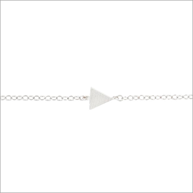Silberne ALLTHELUCKINTHEWORLD Armband ELEMENTS BRACELET TRIANGLE SOL - large