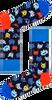 Mehrfarbige/Bunte HAPPY SOCKS Socken FUNNY CAT  - small