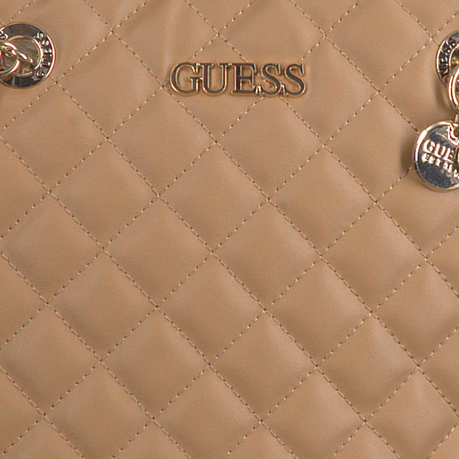 Beige GUESS Umhängetasche ILLY SOCIETY SATCHEL  - large