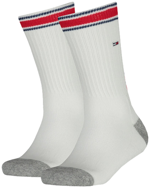 Weiße TOMMY HILFIGER Socken TH KIDS ICONIC SPORTS SOCK 2P - large