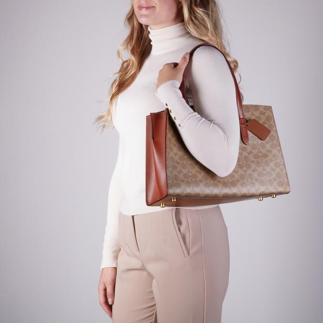 Beige COACH Handtasche CHARLIE CARRYALL  - large