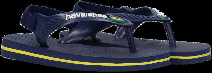 Blaue HAVAIANAS Pantolette BABY BRASIL LOGO II  - larger