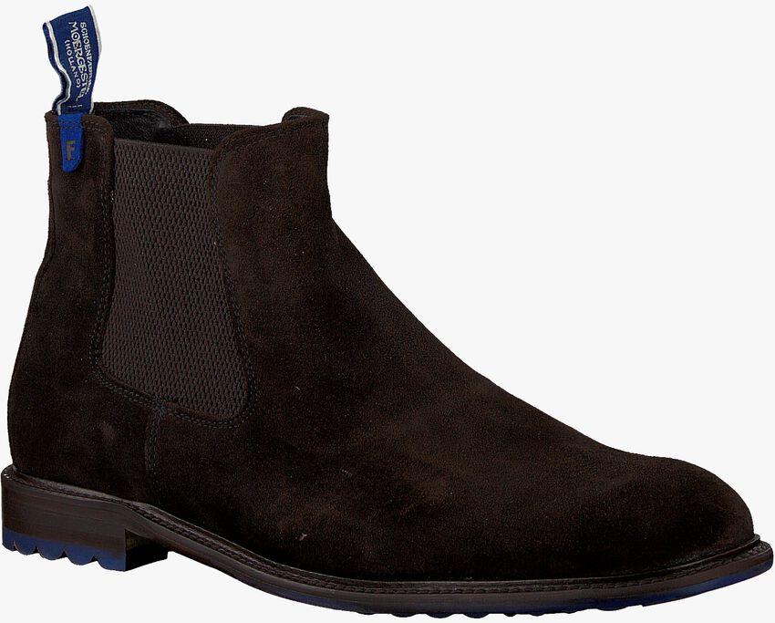 Braune FLORIS VAN BOMMEL Chelsea Boots 10902  - larger