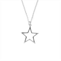 Silberne ALLTHELUCKINTHEWORLD Kette SOUVENIR NECKLACE STAR - medium