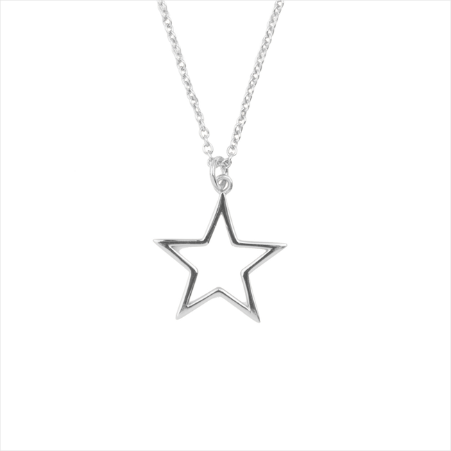 Silberne ALLTHELUCKINTHEWORLD Kette SOUVENIR NECKLACE STAR - large