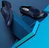 Blaue MASCOLORI Business Schuhe BLUE WINDOW - small