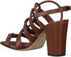 Cognacfarbene LOLA CRUZ Sandalen 341Z10BK  - small