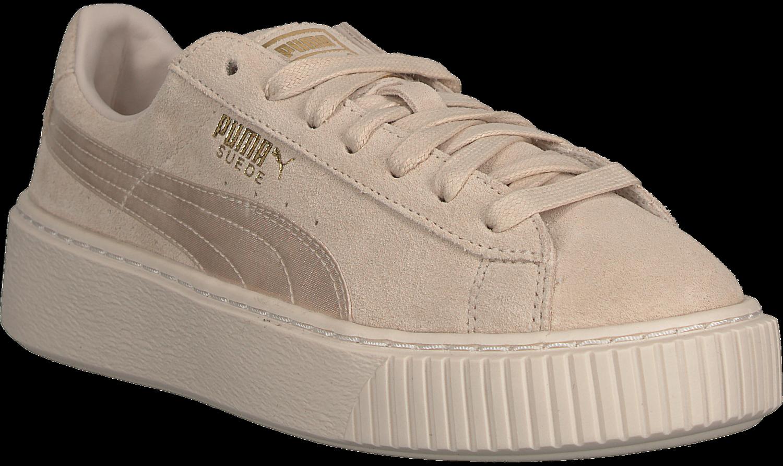 839c399fb0aa Beige PUMA Sneaker SUEDE PLATFORM MONO SATIN - Schuhmode .