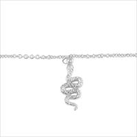 Silberne ALLTHELUCKINTHEWORLD Armband SOUVENIR NECKLACE SNAKE - medium