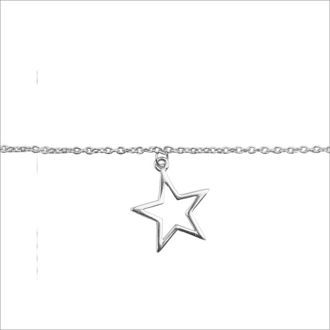 Silberne ALLTHELUCKINTHEWORLD Armband SOUVENIR BRACELET STAR - large