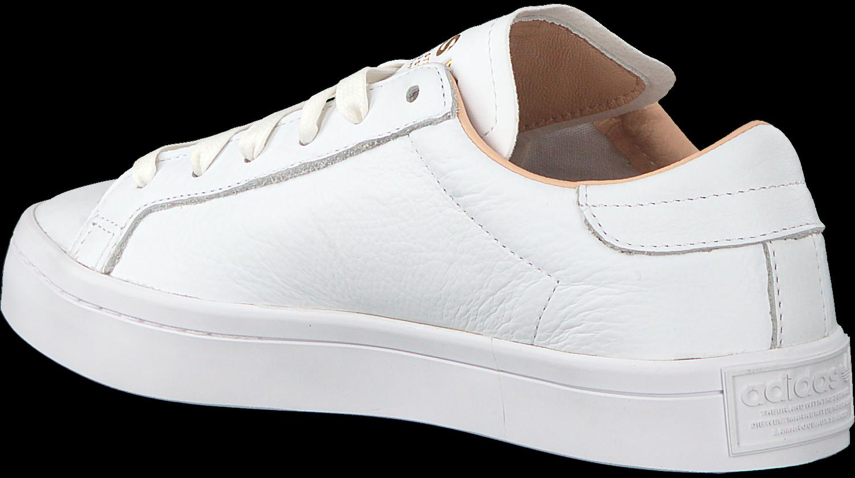 Weiße ADIDAS Sneaker COURT VANTAGE DAMES