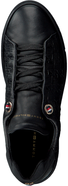 Schwarze TOMMY HILFIGER Sneaker TOMMY MONOGRAM DRESSY  - large