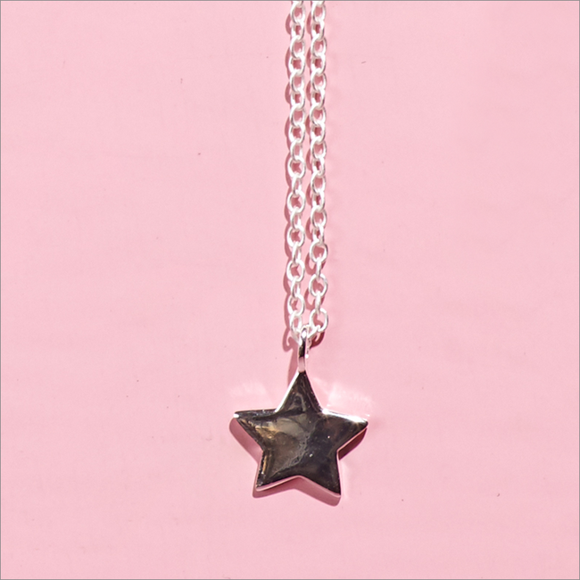 Silberne ALLTHELUCKINTHEWORLD Kette FORTUNE NECKLACE STAR - large