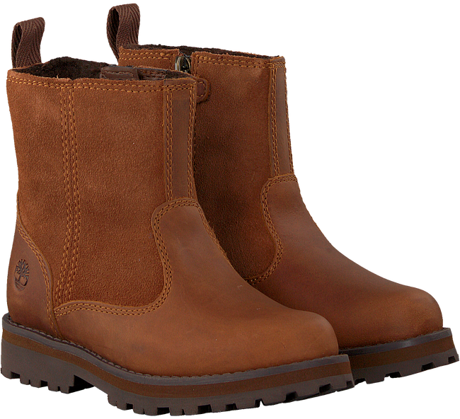 Cognacfarbene TIMBERLAND Ankle Boots COURMA KID WARM LINED  - large