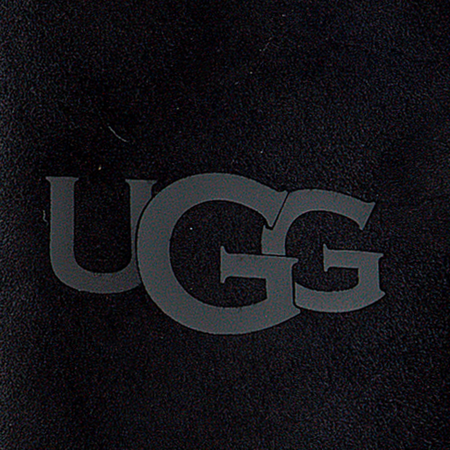 Schwarze UGG Handschuhe SHEEPSKIN LOGO MITTEN  - large