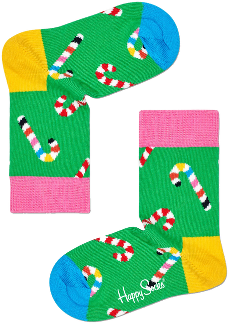 Mehrfarbige/Bunte HAPPY SOCKS Socken CANDY CANE SOCK  - large