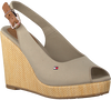 Graue TOMMY HILFIGER Sandalen ICONIC ELENA SLING BACK WEDGE  - small