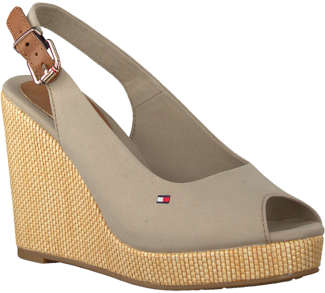 Graue TOMMY HILFIGER Sandalen ICONIC ELENA SLING BACK WEDGE  - large