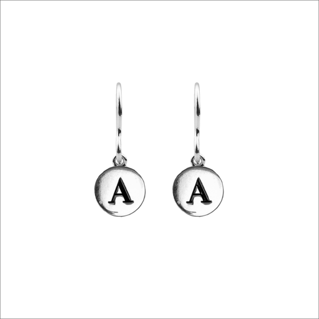 Silberne ALLTHELUCKINTHEWORLD Ohrringe CHARACTER EARRINGS LETTER - large