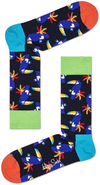 Mehrfarbige/Bunte HAPPY SOCKS Socken TOUCAN  - large