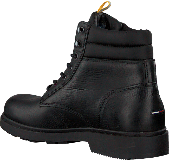 Schwarze TOMMY HILFIGER Schnürboots CASUAL BOOT  - large