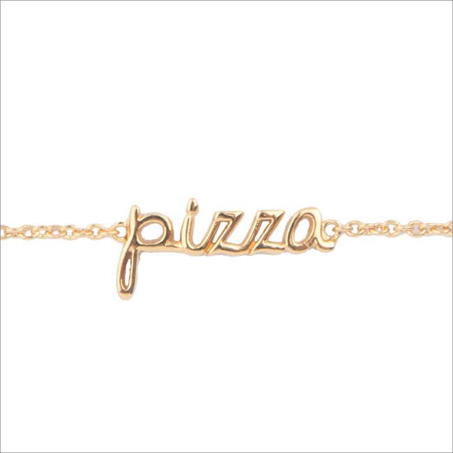 Goldfarbene ALLTHELUCKINTHEWORLD Armband URBAN BRACELET PIZZA - large