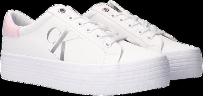 Weiße CALVIN KLEIN Sneaker low VULCANIZED FLATFORM LACEUP  - large